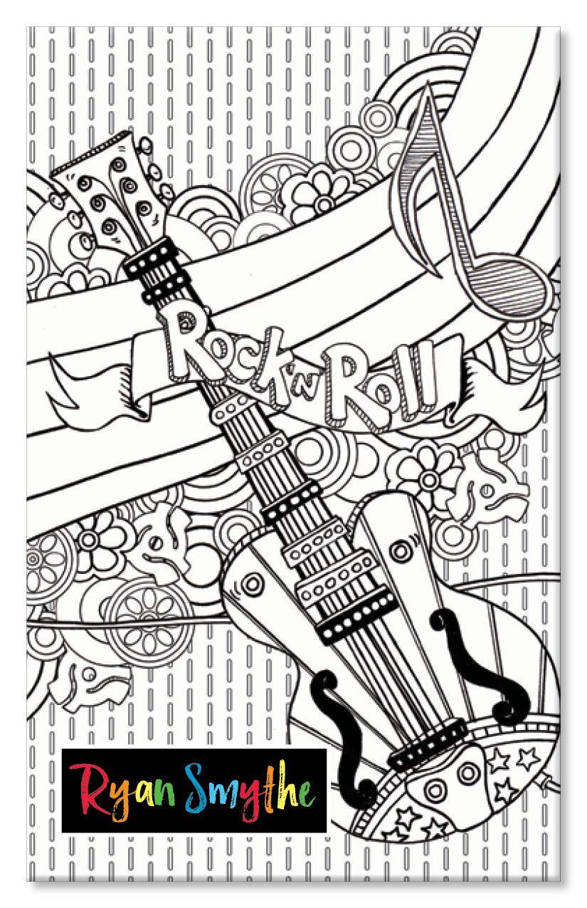 Rock n'Roll Doodle Journal